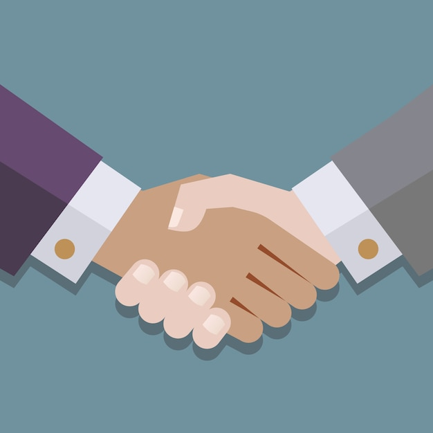 Illustration d'une poignée de main Vecteur Premium