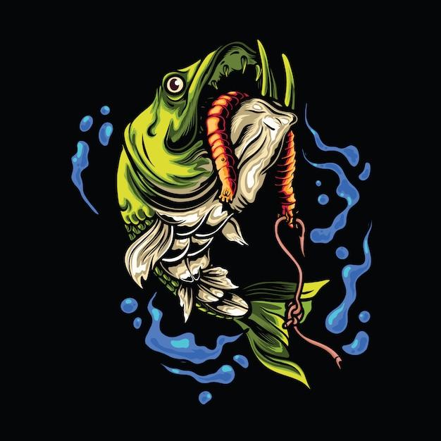 Illustration De Poisson Pêcheur Vecteur Premium