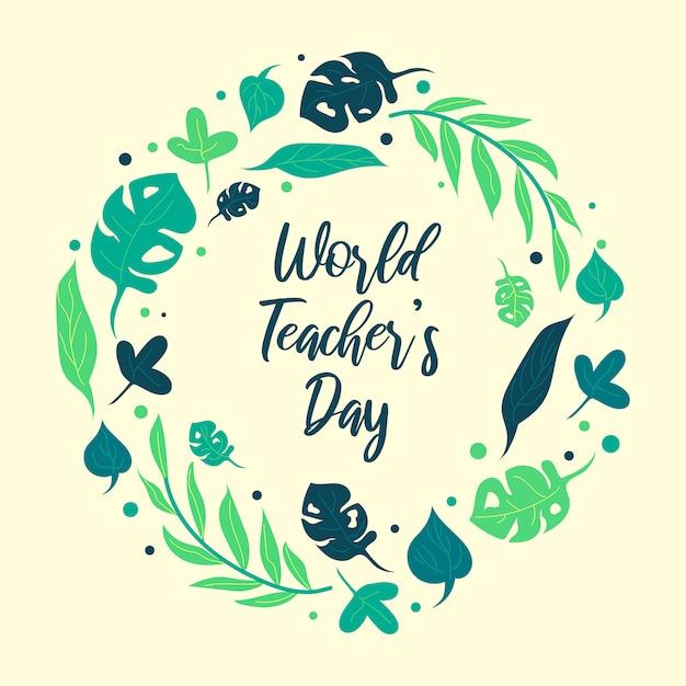 Illustration pour la journée mondiale des enseignants Vecteur Premium