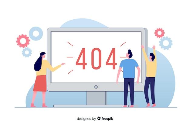Illustration pour la page de destination avec le concept d'erreur 404 Vecteur gratuit
