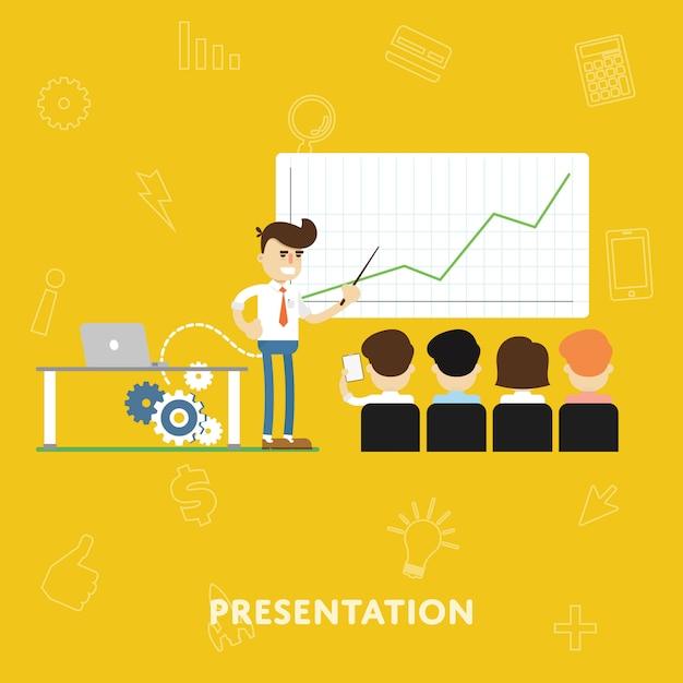 Illustration de la présentation Vecteur Premium