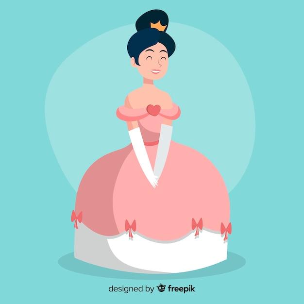 Illustration De Princesse Dessinée à La Main Vecteur gratuit