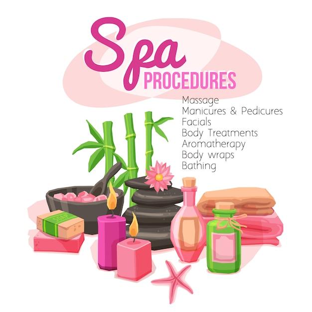 Illustration des procédures de spa Vecteur gratuit
