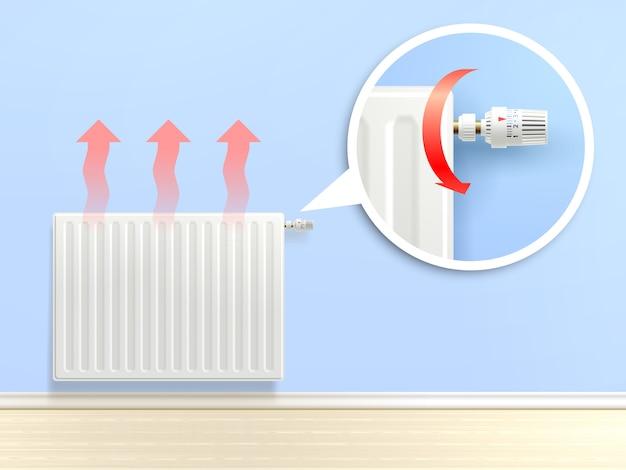 Illustration de radiateur réaliste Vecteur gratuit