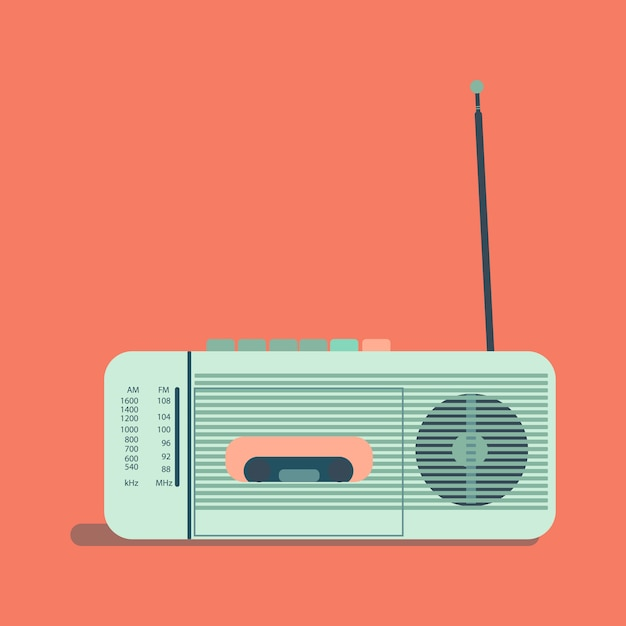 Illustration: Radio Rétro. Illustration Pour La Journée Internationale De La Radio Vecteur Premium