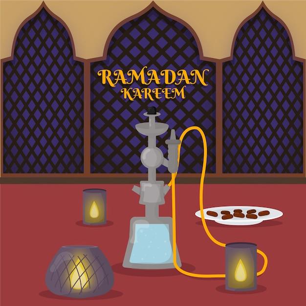 Illustration De Ramadan Design Plat Vecteur gratuit