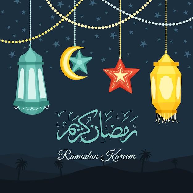 Illustration De Ramadan Kareem Dessinée à La Main Vecteur gratuit