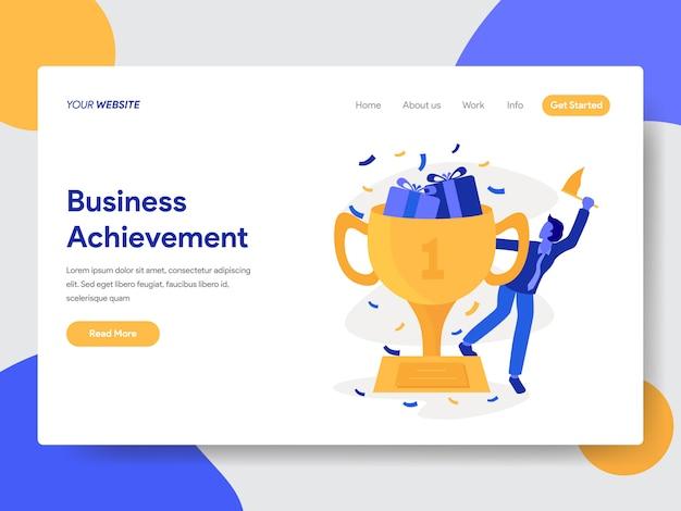 Illustration des réalisations commerciales pour la page web Vecteur Premium