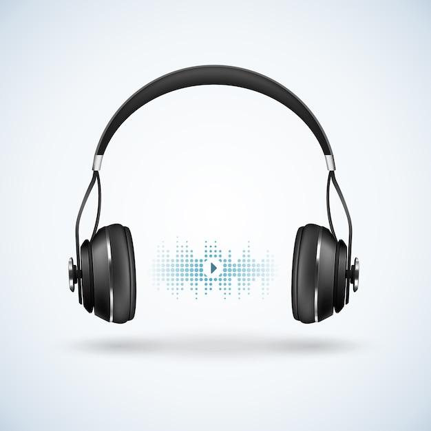 Illustration Réaliste D'écouteurs Sans Fil Vecteur gratuit