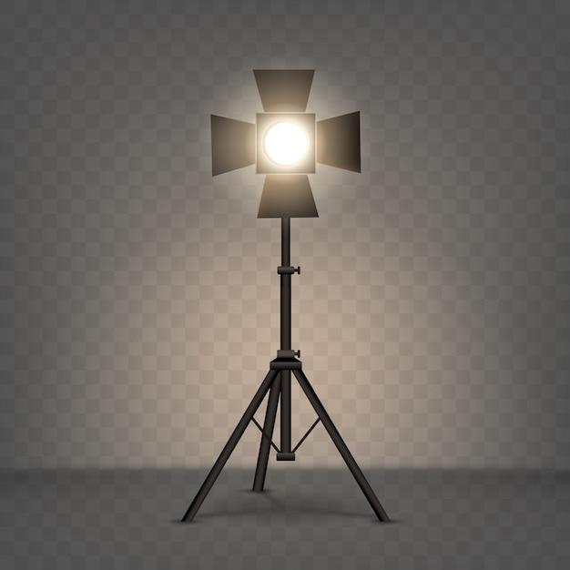 Illustration Réaliste De Projecteur Avec Une Lumière Chaude Vecteur gratuit