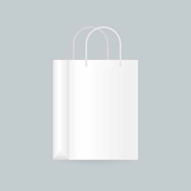 Illustration réaliste de sac shopping blanc vide Vecteur Premium