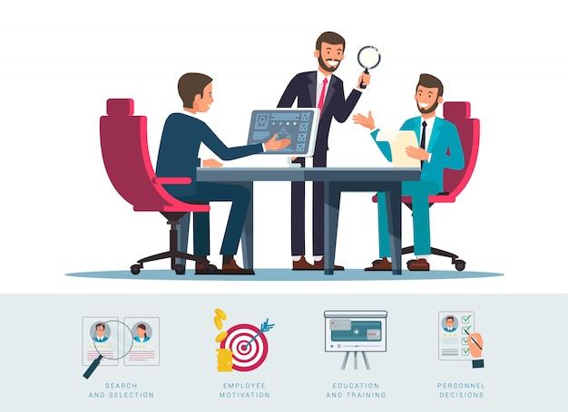 Illustration de recherche de candidats Vecteur Premium