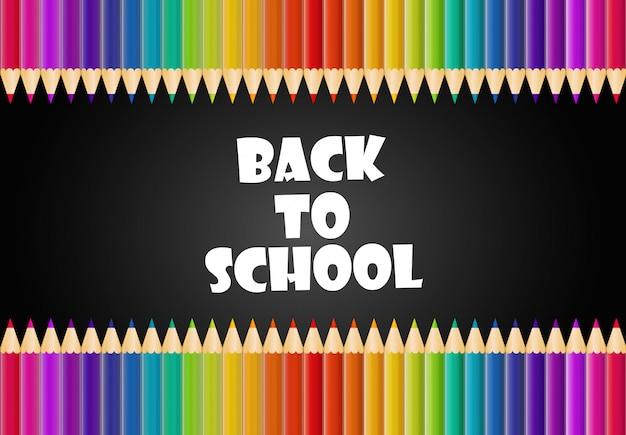 Illustration de la rentrée scolaire Vecteur Premium