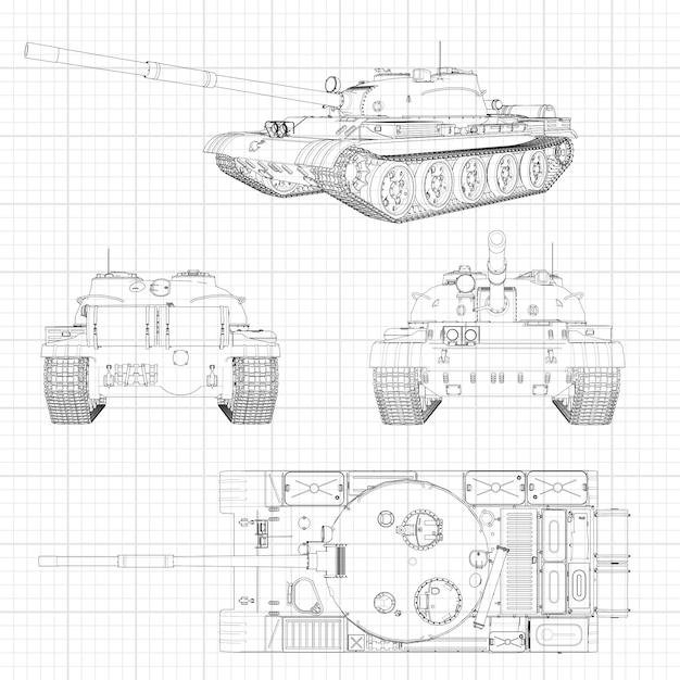 Illustration De Réservoir Machine Militaire Dans Les
