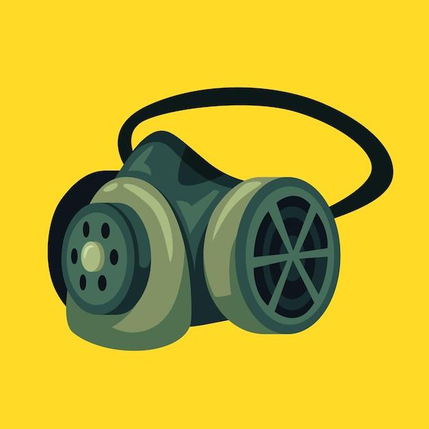 Illustration De Respirateur De Masque à Gaz Vecteur Premium