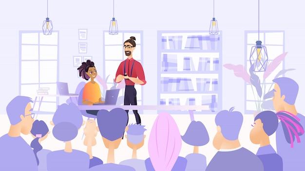 Illustration réunion prévue employés société Vecteur Premium