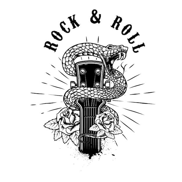 Illustration De Rock And Roll Vecteur Premium