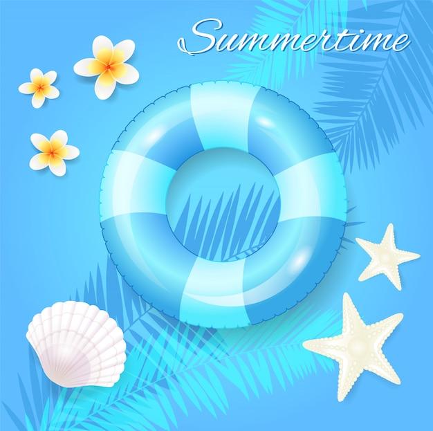 Illustration saisonnière de l'heure d'été Vecteur Premium