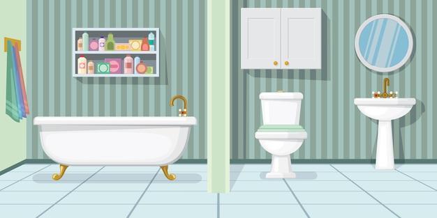 Illustration de la salle de bain à la mode Vecteur gratuit