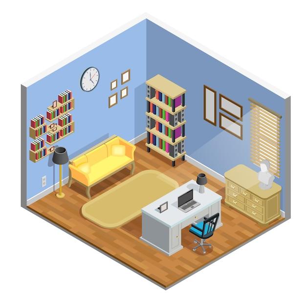 Illustration de la salle d'étude Vecteur gratuit