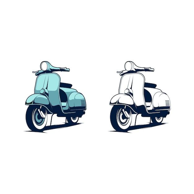 Illustration de scooter Vecteur Premium