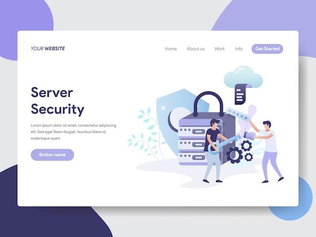Illustration de la sécurité du serveur pour les pages web Vecteur Premium