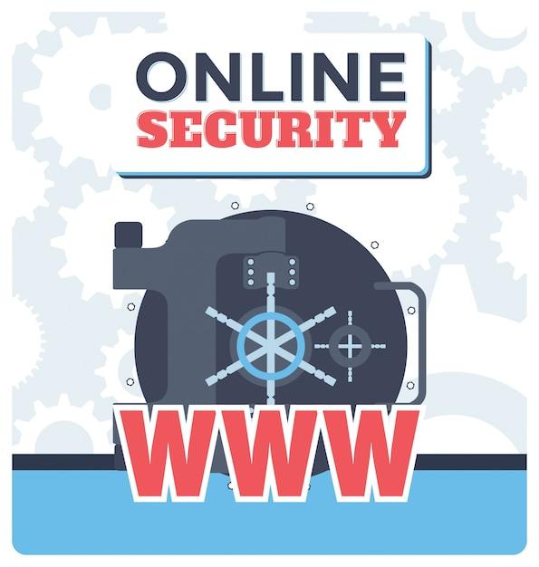 Illustration de sécurité en ligne Vecteur gratuit