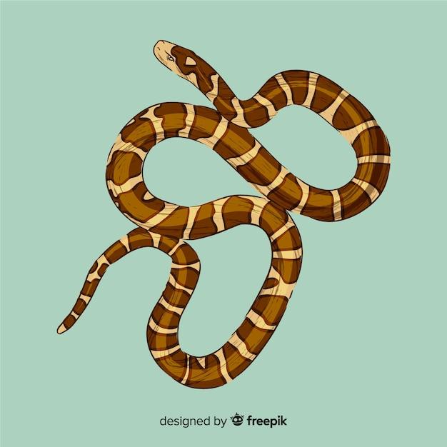 Illustration de serpent dessiné à la main Vecteur gratuit