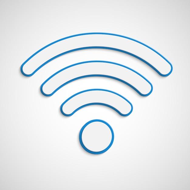 Illustration De Signal Wifi Vecteur Premium