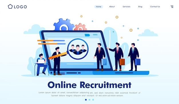 Illustration de site web en ligne Vecteur Premium