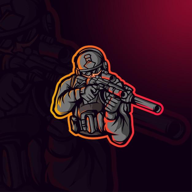 Illustration De Soldat Vecteur Premium