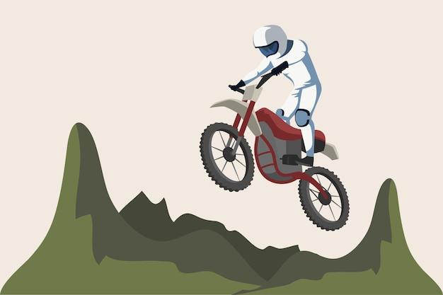 Illustration De Sport De Moto Vecteur Premium