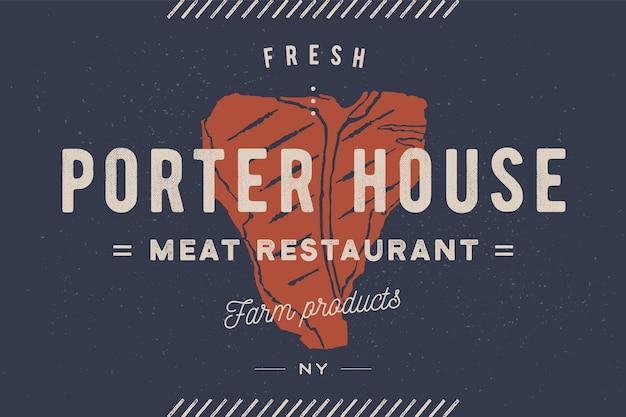 Illustration De Steakhouse Vecteur Premium
