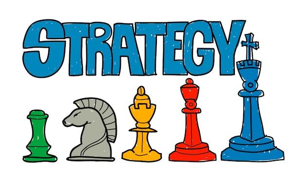 Illustration de la stratégie commerciale Vecteur gratuit