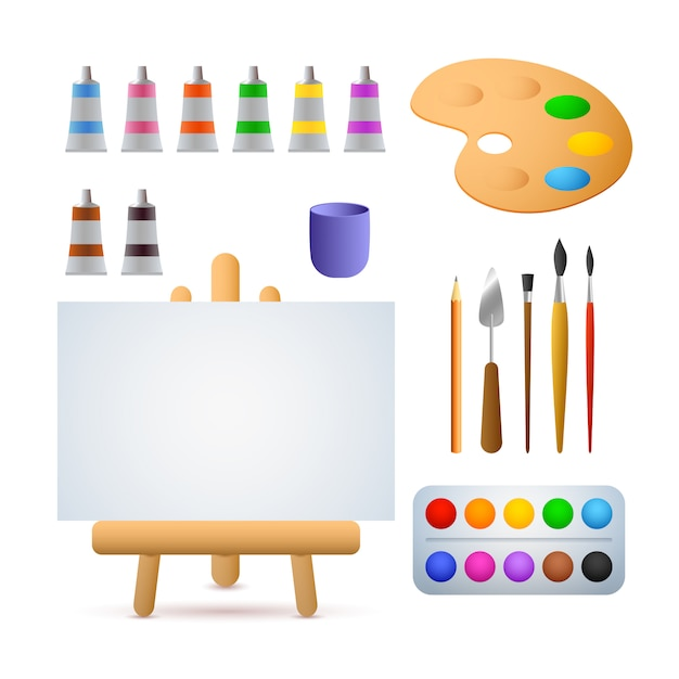 Illustration Studio D'art Vecteur gratuit