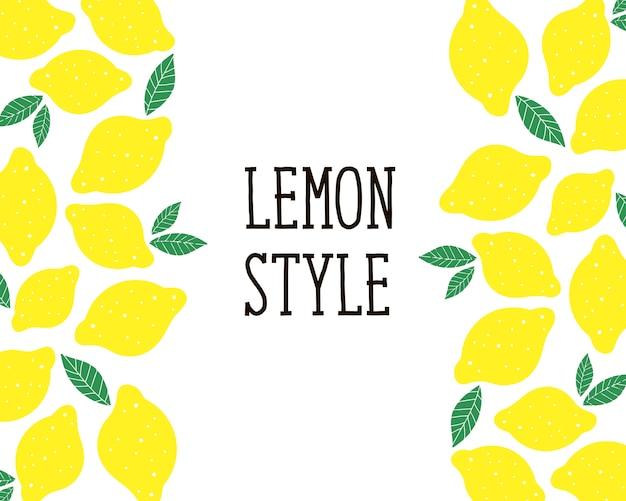 Illustration de style citron pour la cuisine Vecteur Premium