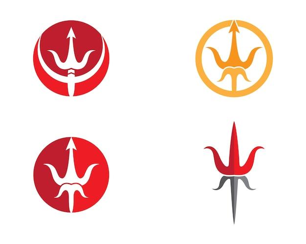 Illustration de symbole trident Vecteur Premium