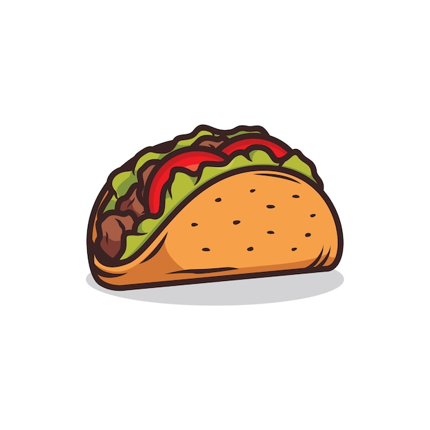 Illustration de taco Vecteur Premium