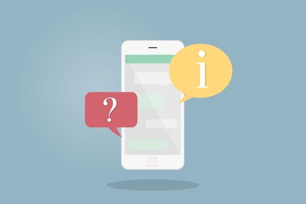 Illustration d'un téléphone portable avec des bulles Vecteur gratuit