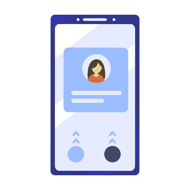 Illustration de téléphone portable dans un style design plat Vecteur Premium