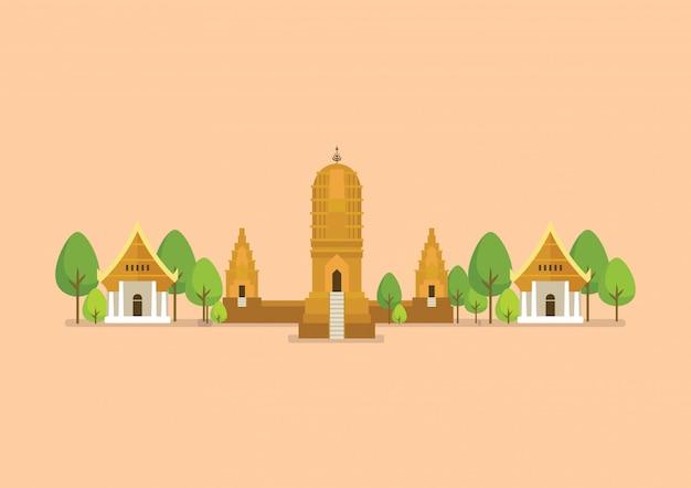 Illustration De Temple Antique Historique Vecteur Premium