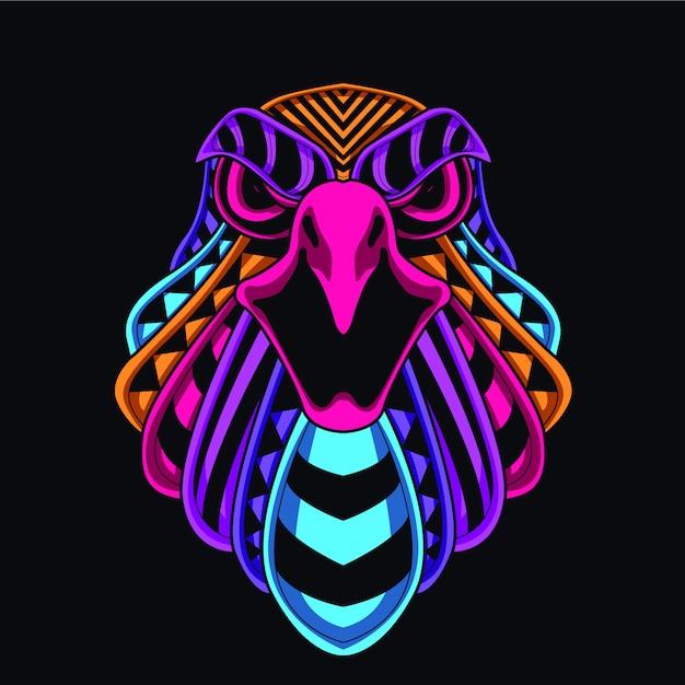 Illustration tête d'aigle Vecteur Premium
