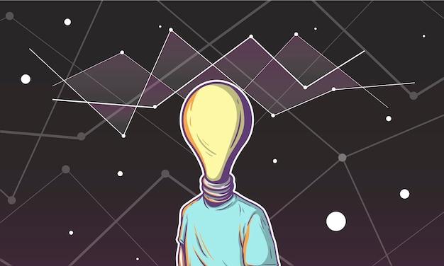 Illustration d'une tête d'ampoule Vecteur gratuit