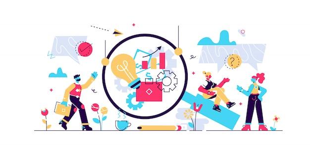 Illustration De Transparence D'entreprise. Petit Concept De Personne éthique Honnête. Vecteur Premium