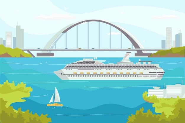 Illustration De Transport Maritime Vecteur Premium