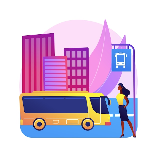 Illustration Des Transports Publics Vecteur gratuit