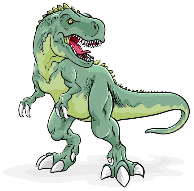 Illustration de tyrannosaurus rex Vecteur Premium