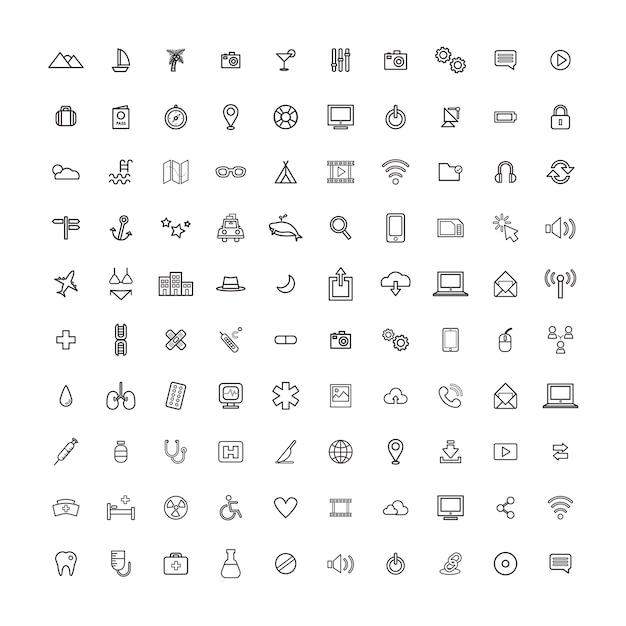 Illustration ui universal icon concept Vecteur gratuit