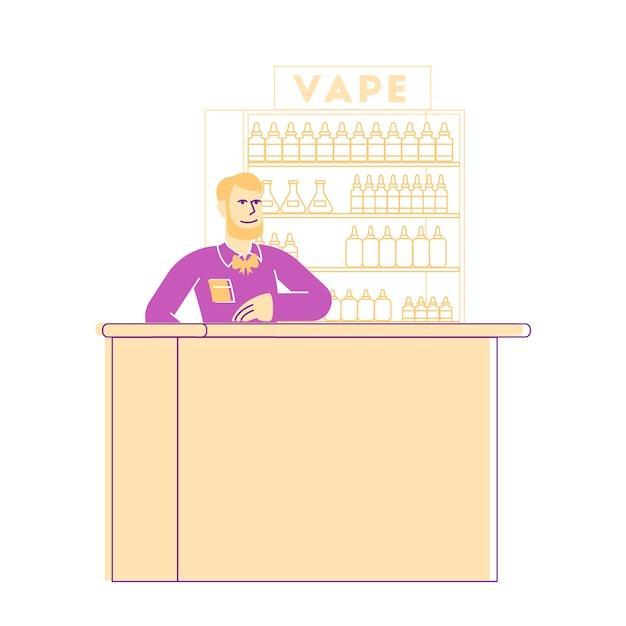 Illustration De Vape Shop Business Vecteur Premium