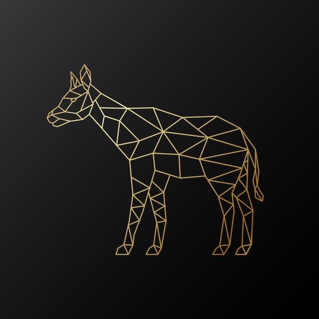 Illustration de vecteur géométrique okapi. Vecteur Premium